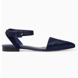 ALEXANDER WANG LANA CALF HAIR POINTED FLATS EU37