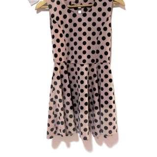 Poka Dot Pink Dress