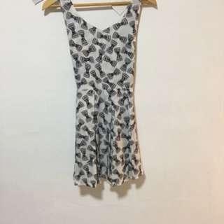 B/W Print Dress