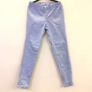 🚚 淺藍色 伸縮長褲