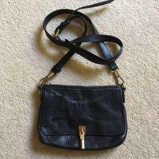 Elizabeth & James black mini sling bag