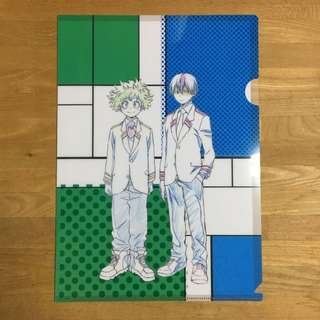 BNHA Todoroki/Deku L-Folder from Bunbougu Cafe
