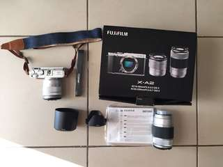 Fujifilm XA-2 with kit and zoom lens