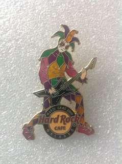 Hard Rock Cafe Pins - ORLANDO HOT 2010 MARDI GRAS JESTER PLAYING GUITAR!