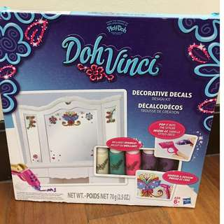 playdoh doh vinci decorative design set