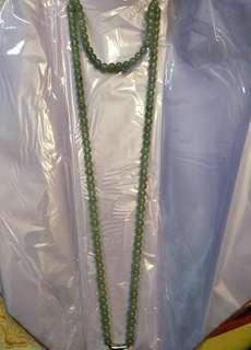 翡翠冰玉珠项链