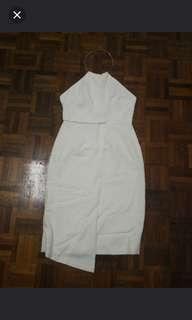 Premiun white dress L