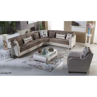 kursi sofa minimalis bagus sudut  Wa 083137569117