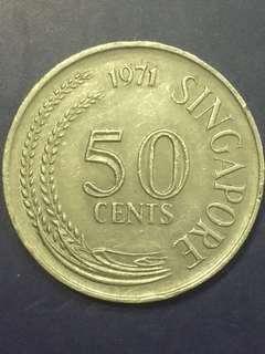 Singapore 50 Cent 1971