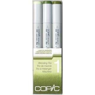 Copic Sketch Marker Blending Trio (green pk)