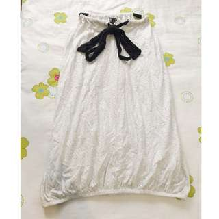 Gray Silver Polka Dotted Just G Sack Dress