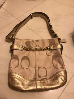 Coach Gold two way handbag