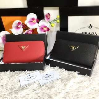 Prada Plain Long Wallet