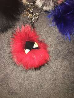 Fendi monster Pom Pom key chain