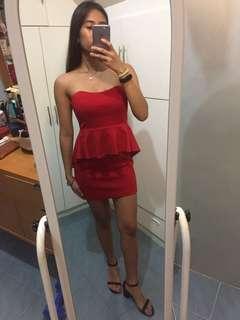 Forever 21 peplum Red dress