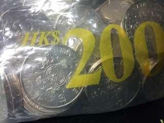 1997年回歸版伍元、原包$200元