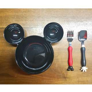 Mickey Bowl & Cutlery Set