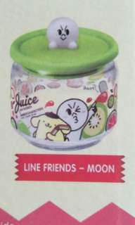 7 eleven glass canister- Moon