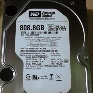 WD  WDC WD8088AADS-32L5B1  SATA3   808.8G