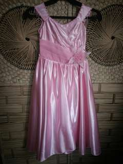 Pink Gown With Adjustable Back