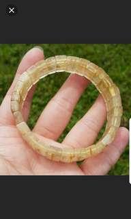 ☡40%off Bracelet (Rutilated Quartz*发晶)