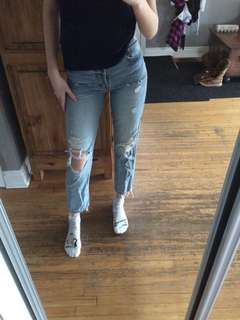 REDUCED H&M Ripped Jeans