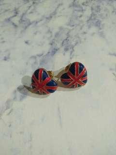 🚚 愛心英國旗耳環 #一百元好物