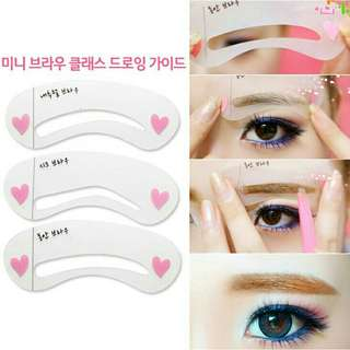 Eyebrow Stencil Card