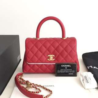 Authentic Chanel Small Coco Handle Bag