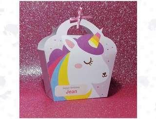 [preorder] children birthday party goodie bag unicorn 5 pcs