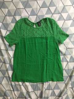F21 lace green top s on tag