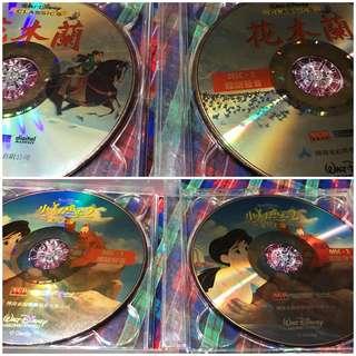 特價 (花木蘭、小美人魚2重返大海 兩部都是國語發音中文字幕)迪士尼動畫VCD 包含運費120元