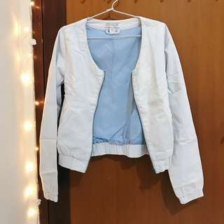 'Cotton On' Jeans Bomber Jacket (baby blue)