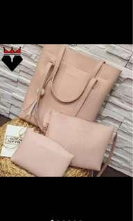 3in1 Korea Casual Tassel Fashion Bag