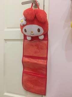 美樂蒂大頭娃娃三層收納袋 可掛式
