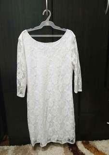 ¾ White Dress