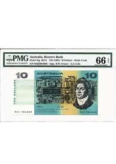 Australia Paper Note $10 Fraser signature PMG66 EPQ