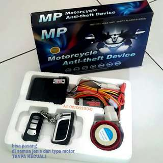 Alarm Motor remote control MP one way _MP two way plus pasang.