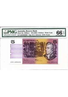 1985 Reserve Bank of Australia - Paper Note - $5 PMG66 EPQ