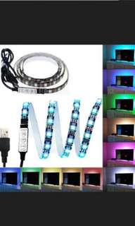 Multi colour controllable changeble usb led strip