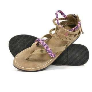 🚚 OshareGirl 05 歐美幾何圖騰設計夾腳涼鞋拖鞋