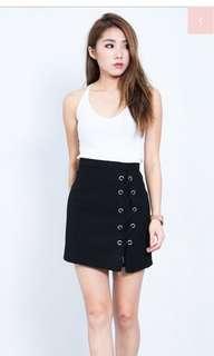 Black tie skirt