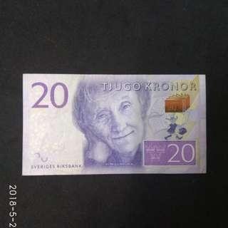 瑞典紙幣20元