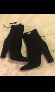Kookai black suede boots size 36