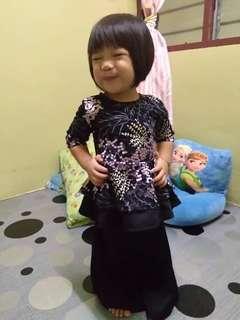 SET PEPLUM LACE MOM & KIDS ~READY STOK~ #raya