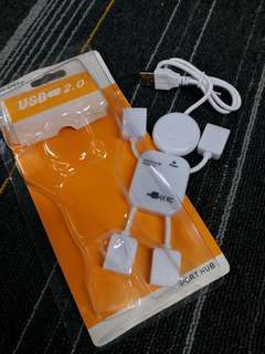 HK$5/1PC ~ New USB 4 Port HUB 全新1開4USB線