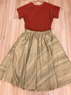 Initial Skirt & Grana Silk Top