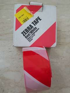 Safety Red/White Tape