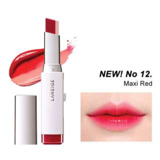 Laneige Two-Tone Lip Bar No. 12 Maxi Red