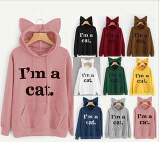 I'm a Cat Hoodie (New and On hand)
